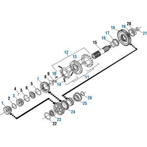 Synchronizer Kit Big Pin w/o Clutch K-1946 Type FullerRT/RTO/RTOO/RTLO 14613 and 14813,1648304C91,1648304C92