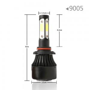 set 2 pcs 4-side 9005 HB3 9140 9145 LED Headlight Kit Hi Beam / Fog Light 60W 6000K 7600LM
