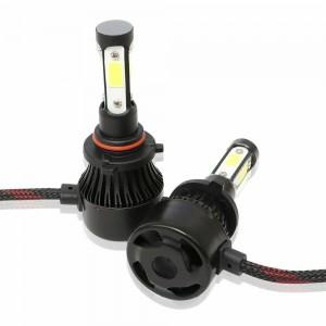 set 2 pcs LED Headlights 4 Sides 9006 S4 LED COB 8000 Lumen UGGV