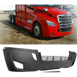 Complete Front Bumper For Freightliner Cascadia 2018-2019+ w/ Fog Light Holes