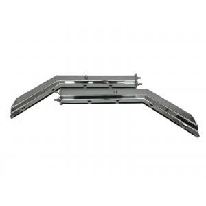 "Mud Flap Hangers Chrome Angled Steel 30"" 1 Pair 2.5"" Semi Truck Spring Loaded"