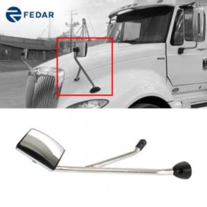 Chrome Hood Mirror Assembly Left Driver Side For International ProStar 2008-2017