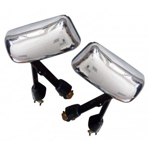 Kenworth T600 T660 T800 Chrome Heat Power Mirror Passenger Driver Side Pair Set