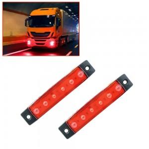 10X  Red LED Sides Marker Indicator Lights Car Truck Trailer Ship