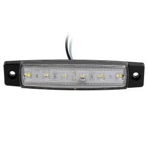 """10x 3.8""""Truck Bus Boat Trailer White Side Marker Indicator Light 6LED"""