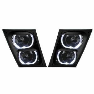 Set Pair LED Performance Fog Light Lamp Set for Volvo VNL VNM Truck New