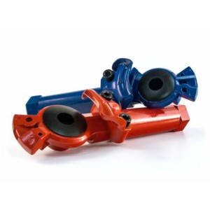 MAXXGRIP POWDER-COATED LONG GLADHAND SET SERVICE & EMERGENCY RED & BLUE PAIR
