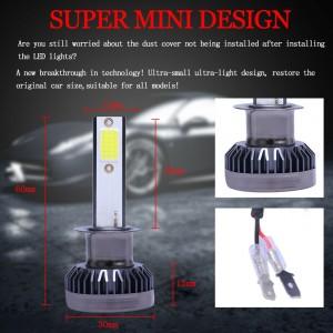 Pair 4 Side H1 LED Headlight Kit 2000W 280000LM High Beam Bulb 6000K White