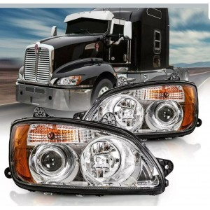 Headlight Projector Pair Left Right for 2008-16 Kenworth T660 T700