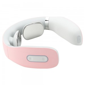 PINK JMK SMART PORTABLE MINI ELECTRIC WIRELESS NECK MASSAGER 360 INFRARED PHYSIOTHERAPY INTELLIGENT NECK MASSAGER