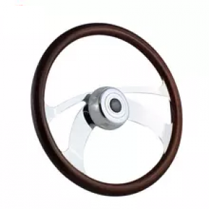 "18"" Steering Wheel 4 Spoke Talon Wood (Freightliner, Kenworth, Peterbilt, Volvo)"